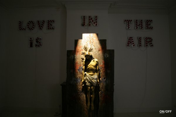 27Carlos Aires :'Jesus-OFF' mixed media installation